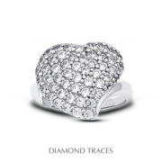 1 1/2ct F Vs2 Round Earth Mined Certified Diamonds 950 Plat. Anniversary Ring