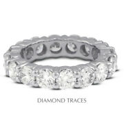 3 Ctw H Si2 Round Cut Natural Certified Diamonds 14k Gold Classic Eternity Band
