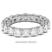 2 Ctw H Si1 Round Brilliant Natural Certified Diamonds 950 Plat. Eternity Band