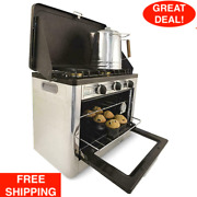 Stainless Steel Camp Chef Deluxe Outdoor Camping Oven Matchless Ignition Cooking