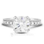 2.11 Ctw D-si2 Round Cut Earth Mined Certified Diamonds 18k Gold Side Stone Ring