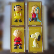 Vintage Snoopy Peanut Wall Hanging Wall Plate 4 Sets Rare 1965