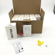 10 Pack Dimmer Light Switch Single-pole Or 3-way Decorator Wallplate 120v White