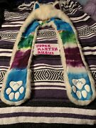 Limited Edition Artic Wolf Colorblast Spirithood White Faux Fur W/tie-dye Liner