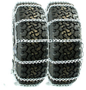 Titan Truck V-bar Link Tire Chains Dual Cam On Road Ice/snow 7mm 10.00-22