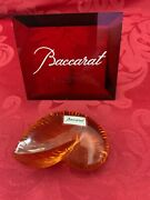 New Flawless Exquisite Baccarat France Crystal Nautilus Sea Shell Snail Figurine