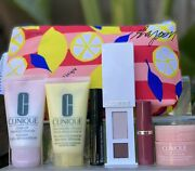 New Clinique Skincare Makeup 6 Pcs Deluxe Samples Travel Size Gift Set W/ Bag