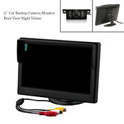 Wireless Rear View Backup Camera Night Vision Parking System+5 Monitor For Car