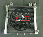 3row Radiator +fan For Bombardier Brp Can Am Ds 650 Ds650 Ds650x Baja 2000-2007