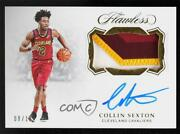 2018-19 Panini Flawless Horizontal Gold /10 Collin Sexton Rpa Rookie Patch Auto