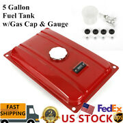 5 Gallon Universal Generator Fuel Tank W/gas Cap And Gauge Lawn Mower Parts New
