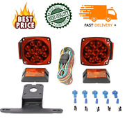 Boat Trailer Led Light Kit 12v Stop Tail And Turn Signal 23-foot Wiring Harness