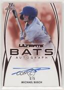 2019 Leaf Ultimate Bats Red /5 Michael Busch Ub-mb1 Auto