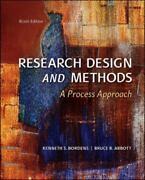 Research Design And Methods A Process Approach By Bordens Kenneth S Abbott