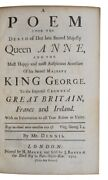 1714 Poem On The Death Of Queen Anne History George I Monarchy 1st Edition