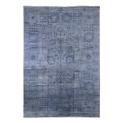 9and0397x13and0399 Plant Base Silk Broken Tebraz Design Hand Knotted Oriental Rug R66477