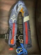 Automatic Inflatable Life Jacket With With Safety Tether And Whist Westmarine