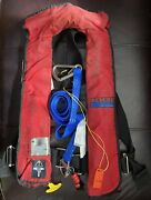 Automatic Inflatable Life Jacket With With Safety Tether And Whist Revere