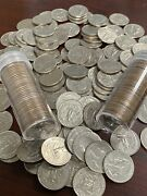 Full Roll Of 40 Washington Quarters 1972s P+d Mixed Circulated Fv 10