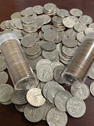Full Roll Of 40 Washington Quarters 1980s Mixed Dates And Mint Marks Fv 10