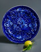 Clews Flow Blue Stone China Indian Plate C 1818