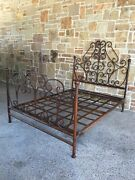 Hand Forged Queen Size Iron Bed Frame- Base, Headboard, Footboard.
