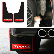 2pcs Front Or Rear Sport Fenders Mudguard Soft Black Rubber For Car Truck Suv