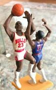 Very Htf 1989 Michael Jordan Isiah Thomas One On One Starting Lineup Slu Bulls