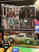 Back To The Future 2 6 Diecast Delorean Time Machine/marty Mcfly Neca Bundle