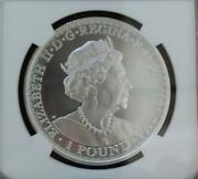2020 St. Helena And Lion Andpound 1 Silver Coin Ms69
