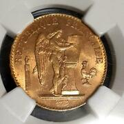 1897 French Angel Gold Coin Ngc Ms63