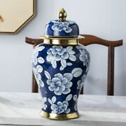 Household Ornaments Jar With Hat-covered Ceramic Antiques Painted Designing Vase