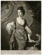 Rare Antique Master Print-agneta York-proof-cotes-green-1768