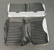 1969-70 Mustang, Mach 1 And Shelby Sportsroof New Tmi Black Rear Seat Upholstery
