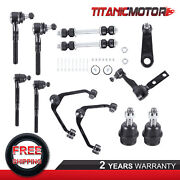 Front Upper Control Arm Tierod Ball Joints Kit For Ford Expedition F150 F250 2wd