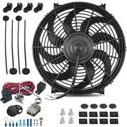 14 Inch 120w Electric Cooling Fan Adjustable Temperature Controller Switch Kit