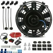 8 Inch Electric Automotive Cooling Fan 12 Volt Lighted Toggle Rocker Switch Kit