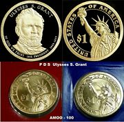 2011 P D S Ulysses S. Grant Presidential Dollar Proof And P And D 3 Coin Set