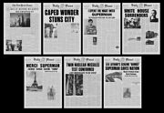 Superman The Movie Daily Planet Newspaper 11 X 15 Prop Poster Collection