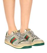 Nib Authentic Cystal Emblished Screener Sneakers Size Eu 39 Discontinued