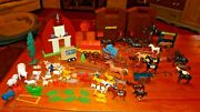 Farm And Horse Stable Play Set Huge Mixed Lot Horses Animals Barn Stable Fences