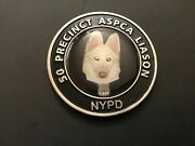 Rare Nypd 50 Pct Aspca Liason Protecting Those Who Canand039t Peotect Themselves Coin