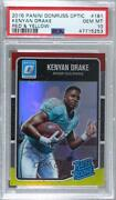 2016 Donruss Optic Rated Rookies Red And Yellow Kenyan Drake 181 Psa 10 Rookie