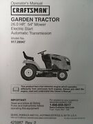 Sears Craftsman 26.0 H.p 54 Mower Garden Tractor Owner And Parts Manual 917.289472