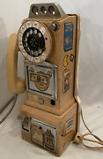 Vintage Early 60and039s 3 Slot Northern Electric Rotary Pay Phone As Is Untested