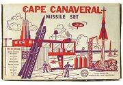Vintage '50s Marx Cape Canaveral Nasa Kennedy Space Center Missile Playset W/box