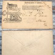 Csa Illustrated Poetry Cover Hand Stamped York Town Va. - Paid 10 Cents Rare