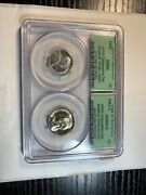 1943 Pcgs Sample Ms66 / Ms66fs Wwii Composition Set 30th Anniversary Double Slab