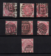 Gb Qv 3d Rose Sg103 Plates 4 To 10 Used Collection Ws22155