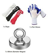 Magnet Fishing Kit-300lb Magnetrope And Gloves Free Shipping From Sydney-3 Days